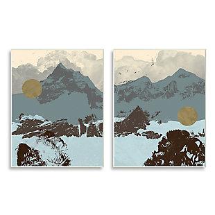 Mountain Range Textures 2-Piece Canvas Wall Art 10x15, , large