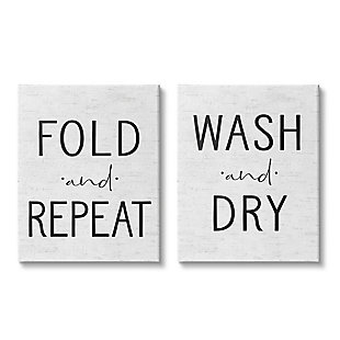 Charming Laundry 2-Piece Canvas Wall Art 24x30, White/Black, large