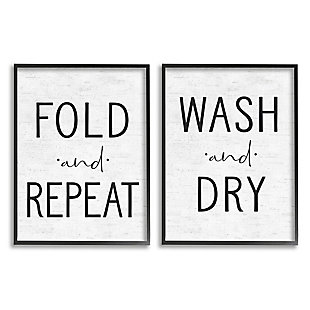 Charming Laundry 2-Piece Canvas Wall Art 16x20, White/Black, large