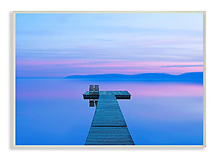 Lake Dock Landscape Photograph 13x19 Wall Plaque, , large
