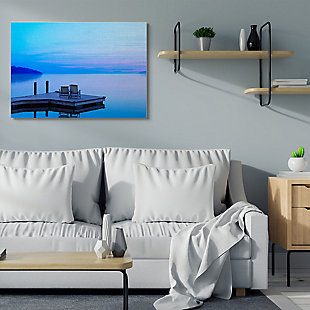 Lake Landscape Photograph 36x48 Canvas Wall Art, Blue, rollover