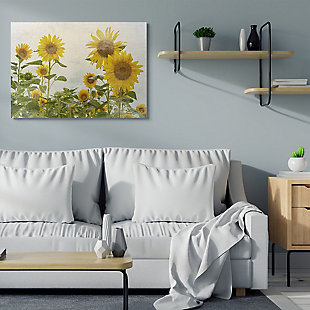 Sunflower Garden Farm 36x48 Canvas Wall Art, , rollover