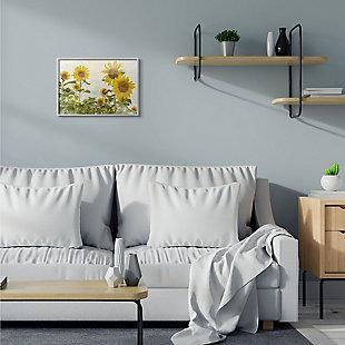 Sunflower Garden Farm 16x20 Gray Frame Wall Art, Beige, rollover