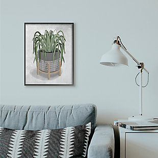 Friendly Spider Plant 24x30 Black Frame Wall Art, , rollover