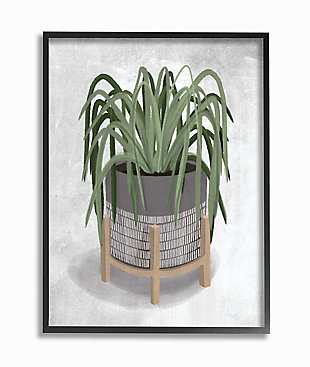 Friendly Spider Plant 24x30 Black Frame Wall Art, , large