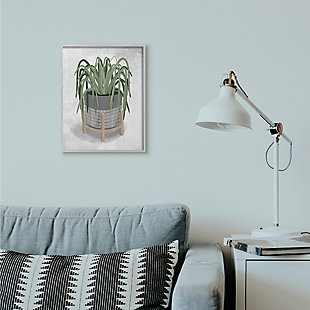 Friendly Spider Plant 16x20 Gray Frame Wall Art, , rollover