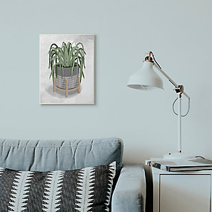 Friendly Spider Plant 13x19 Wall Plaque, Gray, rollover