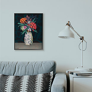 Flower Vase 24x30 Black Frame Wall Art, , rollover