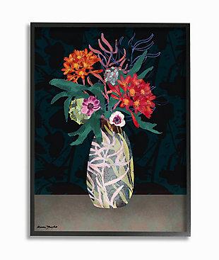 Flower Vase 24x30 Black Frame Wall Art, , large