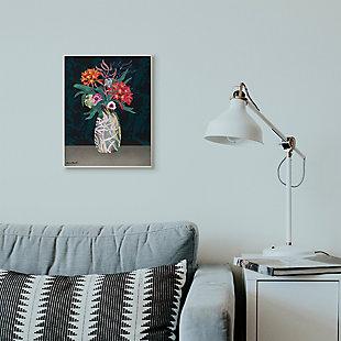 Flower Vase 13x19 Wall Plaque, Black, rollover