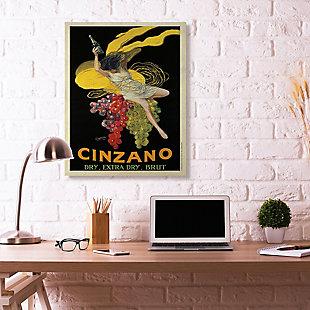 Cinzano Vintage Poster Wine 36x48 Canvas Wall Art, Black, rollover