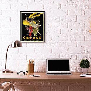 Cinzano Vintage Poster Wine 24x30 Black Frame Wall Art, , rollover