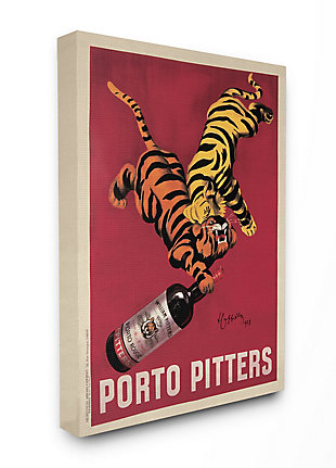 Porto Pitters Vintage 24x30 Canvas Wall Art, Red, large