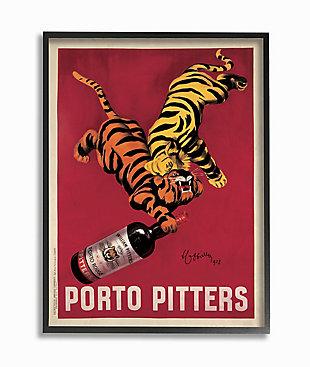 Porto Pitters Vintage 16x20 Black Frame Wall Art, , large