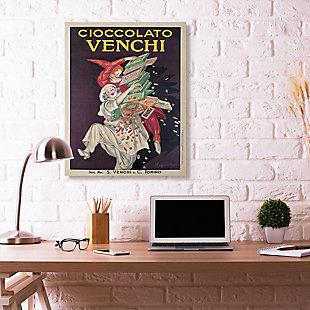 Cioccolato Venchi Vintage Poster Candy 36x48 Canvas Wall Art, Black, rollover
