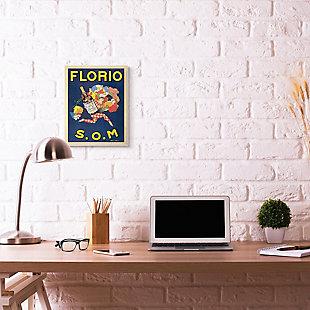 Florio Vintage Poster Drink Design 13x19 Wall Plaque, Blue, rollover