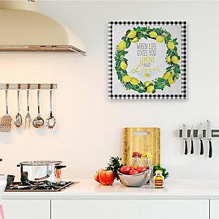 Make Limoncello Kitchen Humor 36x36 Canvas Wall Art, White, rollover