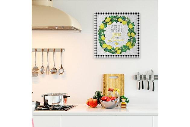 Make Limoncello Kitchen Humor 36x36 Canvas Wall Art, White, large