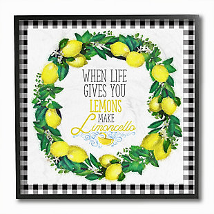Make Limoncello Kitchen Humor 12x12 Black Frame Wall Art, , large