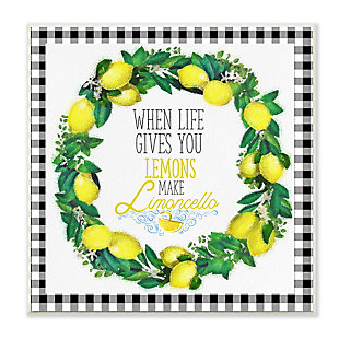 Make Limoncello Kitchen Humor 12x12 Wall Plaque, , large