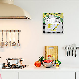 Squeeze The Day Kitchen Humor 17x17 Canvas Wall Art, , rollover