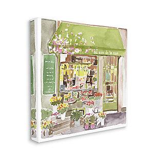 Paris Flower Shop 36x36 Canvas Wall Art, Green, large