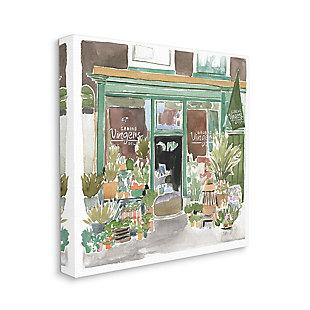 Paris Flower Shop 36x36 Canvas Wall Art, White, large