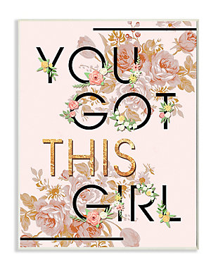You Got This Girl 13x19 Wall Plaque, Pink, large