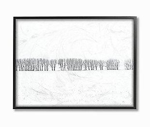 Winter Tree Line Photograph 24x30 Black Frame Wall Art, , rollover