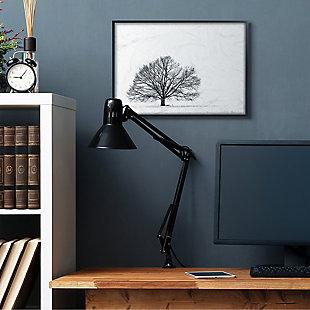Winter Tree Silhouette 24x30 Black Frame Wall Art, , rollover