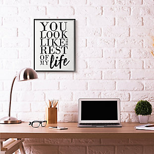 You Look Like Romantic 24x30 Black Frame Wall Art, White, rollover