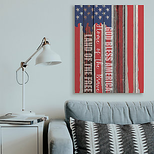God Bless America 36x48 Canvas Wall Art, Red/Blue, rollover