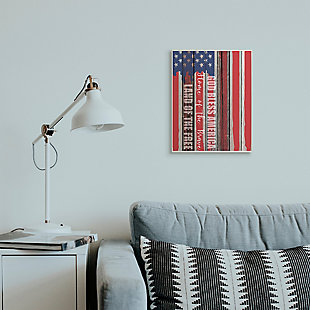 God Bless America 13x19 Wall Plaque, Red/Blue, rollover