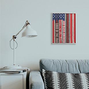 God Bless America 16x20 Gray Frame Wall Art, , rollover