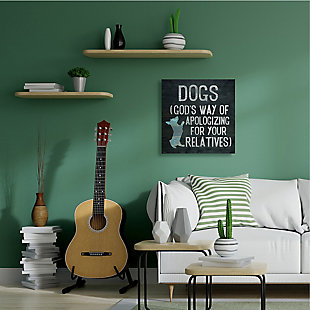 Dogs are God's Apology Quote 36x36 Canvas Wall Art, Blue, rollover