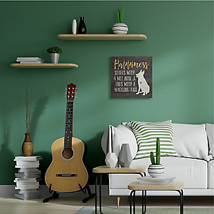 Happiness Starts with a Wet Nose Dog 24x24 Canvas Wall Art, , rollover