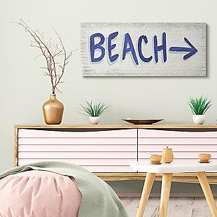 Beach This Way Arrow Sign 17x40 Wall Art, , rollover