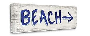 Beach This Way Arrow Sign 17x40 Wall Art, , large