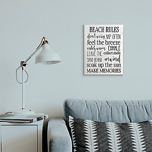 Beach House Rules Relaxing Activities 13x19 Wall Plaque, White, rollover