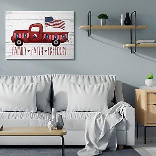 Rustic Faith Family Freedom 36x48 Canvas Wall Art, White, rollover