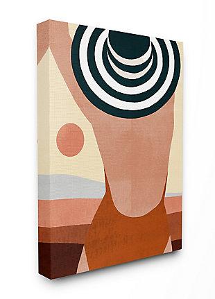 Female Back Beach Fashion 16x20 Canvas Wall Art, , large
