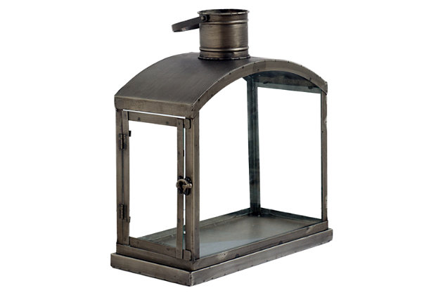 Black Home Accents Lantern by Ashley HomeStore
