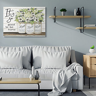 So Good To Be Home 36x48 Canvas Wall Art, White, rollover