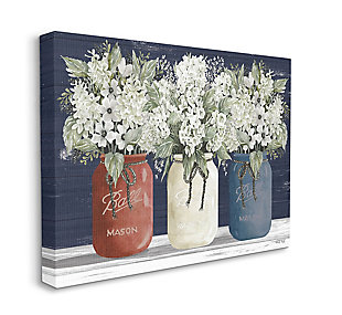 Americana Floral Bouquets Rustic Flowers 16x20 Canvas Wall Art, , large
