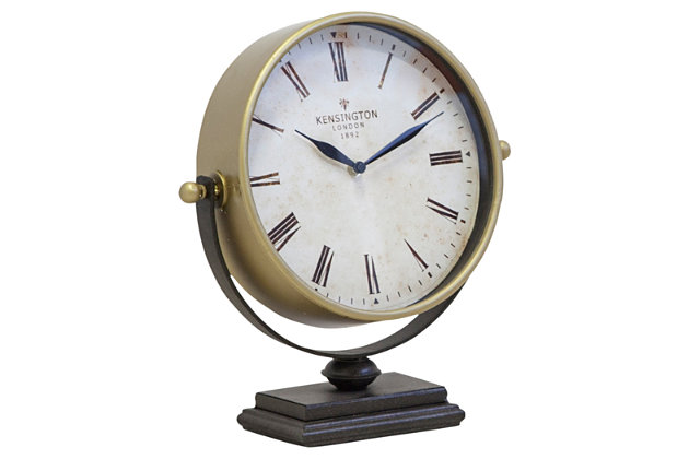 Black Home Accents Table Clock by Ashley HomeStore