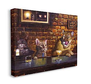 Cougar at the Bar Ladies Night Animal Humor 30x40 Canvas Wall Art, , large