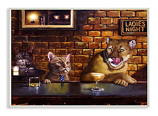 Cougar at the Bar Ladies Night Animal Humor 13x19 Wall Plaque, Brown, large