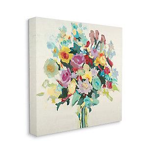 Pastel Spring Seasonal Floral Bouquet Flower 36x36 Canvas Wall Art, Multi, large