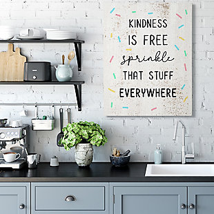 Sprinkle Kindness Everywhere 36x48 Canvas Wall Art, White, rollover