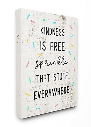 Sprinkle Kindness Everywhere 36x48 Canvas Wall Art, White, large